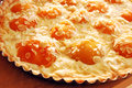 Apricot and almond tart Stock Images