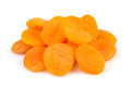 Apricot dried group on white background Royalty Free Stock Photo