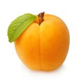 Apricot fruit with leaf isolated Royalty Free Stock Photo