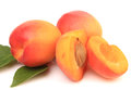 Apricot fruits isolated on white background Stock Photos