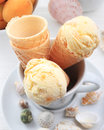Apricot ice cream Royalty Free Stock Photography