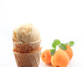 Apricot ice cream Stock Photos