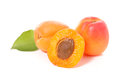 Apricot isolated on white Royalty Free Stock Photo