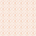 Apricot pink antique wreath roses and fans repeat background floral wallpaper Stock Photography