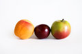 Apricot, Plumb, Apple Royalty Free Stock Photos