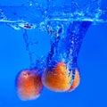 Apricot splash Stock Photography