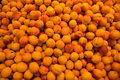Apricot at the supermarket background Royalty Free Stock Photography