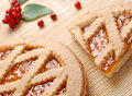 Apricot tart with currants Royalty Free Stock Images