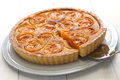 Apricot tart tarte aux abricots Royalty Free Stock Images