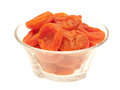 Apricots in bowl. Royalty Free Stock Photo