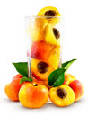 Apricots in the glass Stock Photography