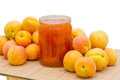 Apricots and jam Royalty Free Stock Image
