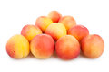 Apricots triangle group on white background Stock Photography
