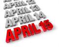 April 15th Approaches Royalty Free Stock Image