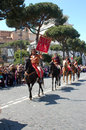 April the birthday of rome italy is a laic festivities linked to founding city celebrated with a Stock Photos