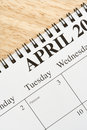 April on calendar. Stock Photo