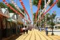 The april fair of seville spain may feria de abril de sevilla s fairground on may in spain Royalty Free Stock Photos