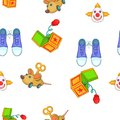 April fools day elements pattern, cartoon style