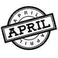 April rubber stamp