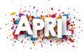 April sign. Royalty Free Stock Photo