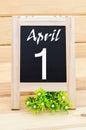 April 1st Fool's Day.