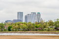 April 2015 - Stormy weather over Tulsa oklahoma Skyline Royalty Free Stock Photo