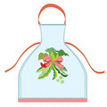 Apron design with pea pod illustration Stock Image