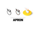 Apron icon in different style Royalty Free Stock Photo