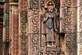 Apsara in Banteay Srey Stock Photo
