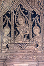Apsara buddhist mural a in a thai temple Stock Images