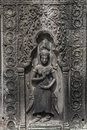 Apsara carvings status on the wall of angkor temple world herit heritage siemreap cambodia Royalty Free Stock Photography