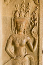Apsara dancer carving, Angkor Wat Stock Images