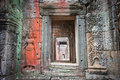 Apsara dancers, bas-relief of Angkor, Cambodia Stock Photography