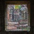 Apsara dancers, bas-relief of Angkor, Cambodia Royalty Free Stock Photo