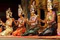 Apsara dancers kneel