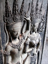 Apsara dancing girls, Cambodia Royalty Free Stock Photo