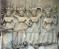 Apsara relief Royalty Free Stock Images