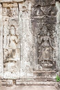 Apsara sculpture the art in bayon temple at cambodia Royalty Free Stock Photo