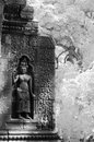 Apsara at wat phu laos ornate bas reliefs of on the outer wall of champasak southern Stock Photo