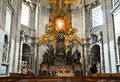 The apse with st peter s cathedra in saint peter s basilica vatican on august Stock Photos