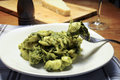 Apulian orecchiette with broccoli and cheese Royalty Free Stock Images