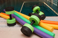 Aqua Aerobics Equipment Royalty Free Stock Photography