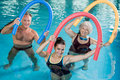 Aqua aerobics with seniors Royalty Free Stock Photo
