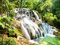 Aqua Azul waterfall in Chiapas Mexico Royalty Free Stock Images