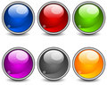 Aqua buttons Stock Photography