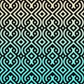 Aqua Chevron Moroccan pattern Royalty Free Stock Photo