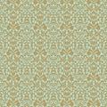 Aqua gold floral wedding damask seamless pattern Royalty Free Stock Photo