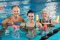 Aqua gym class Royalty Free Stock Photo