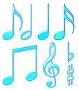 Aqua musical symbols