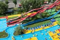 Aqua park mamaia romania august colorful slides and pipes at in with an area of ​​ square feet of fun pools and Royalty Free Stock Photo